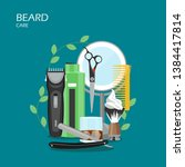 Beard Care Vector Flat...
