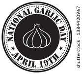 round stamp print for garlic... | Shutterstock .eps vector #1384420967