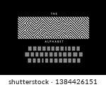vector of stylized modern font... | Shutterstock .eps vector #1384426151