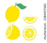 Illustration Of Lemon. Half...
