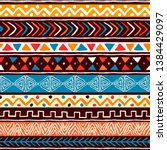 abstract african art style... | Shutterstock .eps vector #1384429097