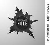 bullet hole banner. torn metal...   Shutterstock .eps vector #1384434221