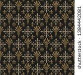 damask wallpaper background... | Shutterstock .eps vector #1384442081
