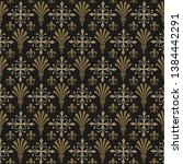 damask wallpaper background... | Shutterstock . vector #1384442291