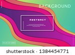 colorful geometric background.... | Shutterstock .eps vector #1384454771