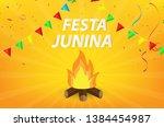 festa junina party design....   Shutterstock .eps vector #1384454987
