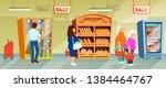 supermarket people buyers in... | Shutterstock .eps vector #1384464767