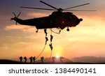 Military commando helicopter...
