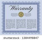 blue vintage warranty template. ... | Shutterstock .eps vector #1384498847