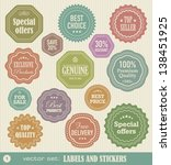 labels and stickers set 1   Shutterstock .eps vector #138451925