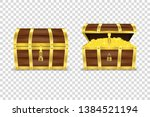 vector 3d realistic closed and... | Shutterstock .eps vector #1384521194