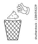 cartoon hand business concept | Shutterstock . vector #138454229