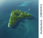 island alphabet. paradise... | Shutterstock . vector #138454511