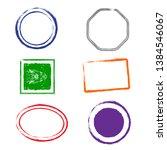 stamps grunge frames on white... | Shutterstock .eps vector #1384546067