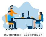 vector design blue orange color ... | Shutterstock .eps vector #1384548137