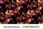 flowers angel elegance fabric... | Shutterstock . vector #1384586051