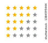 5 star rating icon illustration....