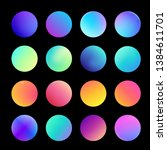 rounded holographic gradient... | Shutterstock .eps vector #1384611701