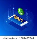vector  isometric illustration. ... | Shutterstock .eps vector #1384627364