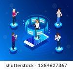 vector  isometric illustration. ... | Shutterstock .eps vector #1384627367