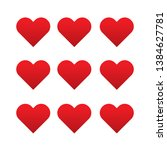 set of heart icon vector... | Shutterstock .eps vector #1384627781