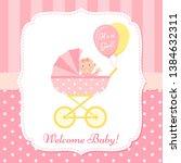 Baby Girl Invite Card. Vector....