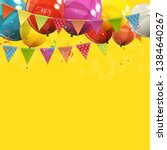 color glossy happy birthday... | Shutterstock .eps vector #1384640267