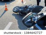 Broken Motorcycle On The Road...
