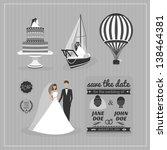 set of wedding design elements | Shutterstock . vector #138464381