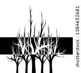 black and white dead tree vector   Shutterstock .eps vector #1384652681