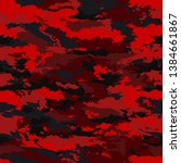 Camouflage military background. Camouflage bright red background - illustration. Abstract pattern seamless