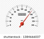 realistic speedometer isolated... | Shutterstock .eps vector #1384666037