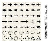 set of black universal arrows. vector eps8 | Shutterstock vector #138467201