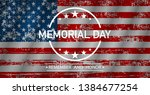 memorial day. remember and... | Shutterstock .eps vector #1384677254
