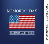 memorial day. remember and... | Shutterstock .eps vector #1384677257