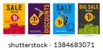 petrol posters templates with... | Shutterstock .eps vector #1384683071