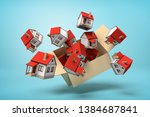 3d rendering of cardboard box... | Shutterstock . vector #1384687841