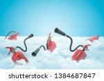 3d rendering of several red... | Shutterstock . vector #1384687847