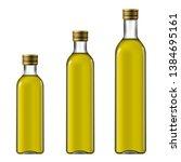 bottles of extra virgin olive...   Shutterstock . vector #1384695161