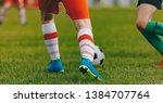 soccer football kick off in the ... | Shutterstock . vector #1384707764
