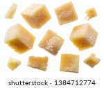 parmesan cheese cubes and...   Shutterstock . vector #1384712774