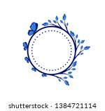 vector concept blue photo frame ... | Shutterstock .eps vector #1384721114