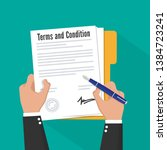 terms and condition of document ... | Shutterstock .eps vector #1384723241