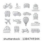 transport icons set on white... | Shutterstock .eps vector #1384749344