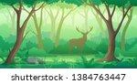 green forest landscape... | Shutterstock .eps vector #1384763447
