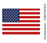 united states of america flag | Shutterstock .eps vector #1384769321
