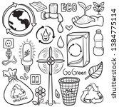 stock of vector hand drawn... | Shutterstock .eps vector #1384775114