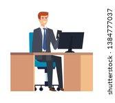 elegant businessman in the... | Shutterstock .eps vector #1384777037