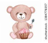 Cute Cartoon Teddy Bear With...
