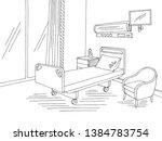 hospital ward graphic black... | Shutterstock .eps vector #1384783754